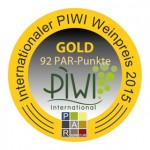 GOLD beim Internationalen PIWI Weinpreis 2015