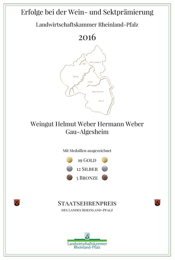 Urkunde Landwirtschaftskammer Rhld.-Pfalz 2016