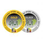 Gold- und Silbermedaille beim internationalen PIWI-Preis 2017