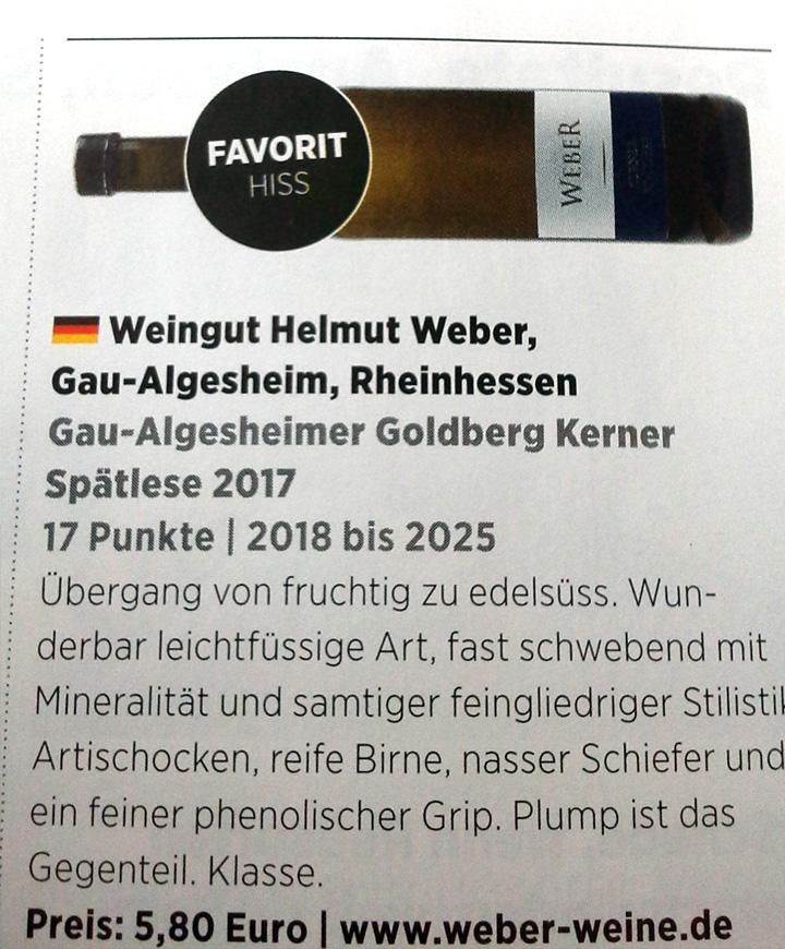 Gau-Algesheimer Golberg Kerner Spätlese 2017