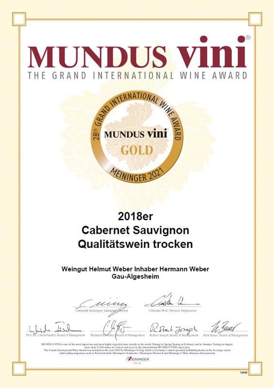 28. Größer Internationaler Weinpreis MUNDUS VINI 2021